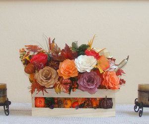 fall decor, fall home decor, and fall floral arrangement image