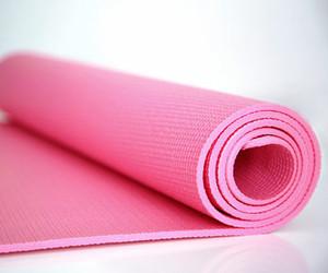 pink, yoga, and fitness image