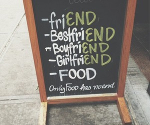 food, friends, and boyfriend image