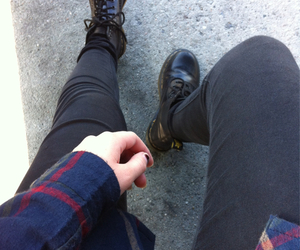 grunge, black, and dr martens image