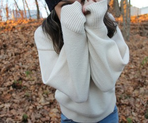 fall, sweater, and autumn image