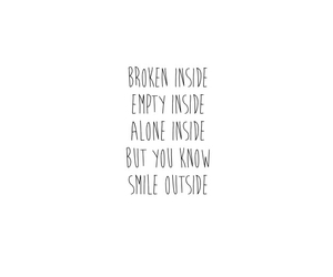 alone, broken, and but image