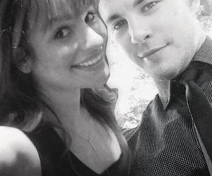 glee, dean geyer, and lea michele image