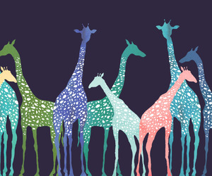 colors, giraffe, and wallpaper image