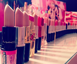 lipstick, pink, and mac image