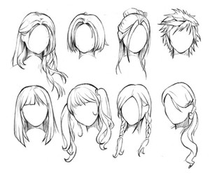 hair, styles, and how to draw image