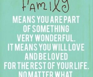 family, loved, and wonderful image