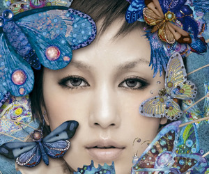 actress, blue, and butterfly image