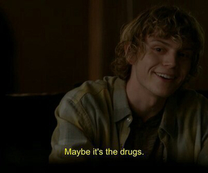 american horror story, drugs, and evan peters image