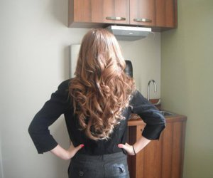 curly hair, fashion, and hairstyle image