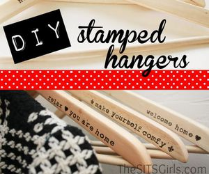 diy, hangers, and tutorial image