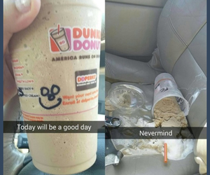 dunkin donuts, funny, and life image