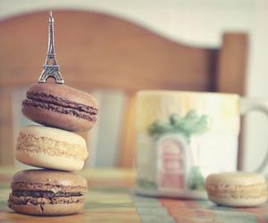 paris, macaroons, and food image