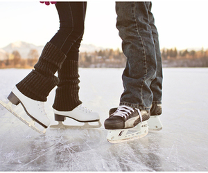 winter, couple, and ice image