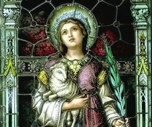 art, Catholic, and lamb image