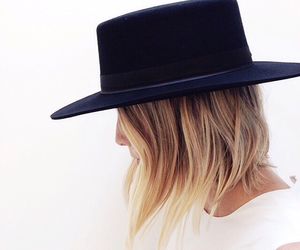 hat, beautiful, and blonde image
