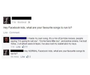 facebook, run, and weird image
