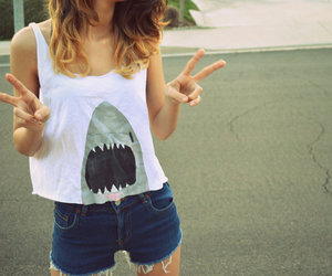 fashion, outfit, and shark image