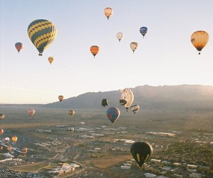 sky, balloons, and cool image