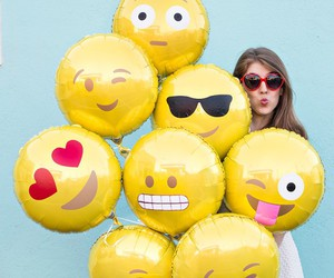 balloons, emoji, and cool image