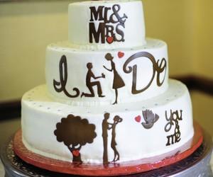 wedding, cake, and sweet image