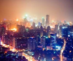 cityscape, lights, and streets image