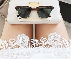 fashion, white, and sunglasses image