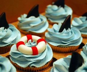 cupcake, shark, and food image
