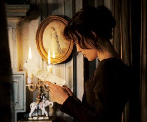 candle, Letter, and elizabeth bennet image