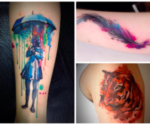 tattoo and color image