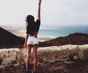 beach, freedom, and girl image