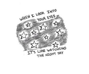 Lyrics, eyes, and quote image
