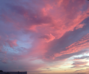 blue, pink, and clouds image