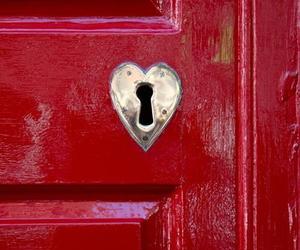 red, door, and heart image