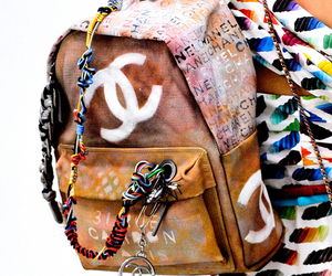 chanel, fashion, and backpack image