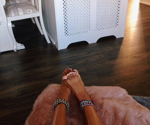 feet, tan, and style image