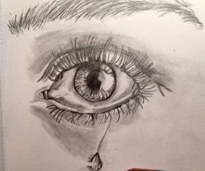 drawing, eye, and heart image