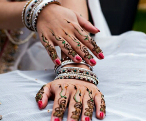 henna, wedding, and mendhi image
