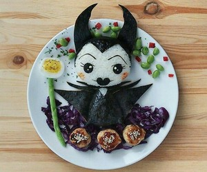 maleficent, food, and disney image