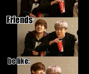 luhan, sehun, and friends image