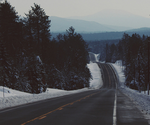 highway, tumblr, and winter image