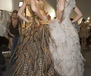 fashion, Alexander McQueen, and feathers image