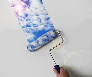 sky, clouds, and paint image