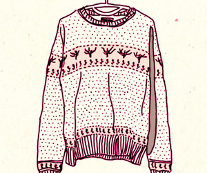 sweater, drawing, and art image