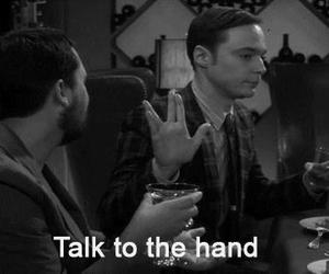 sheldon, funny, and hand image