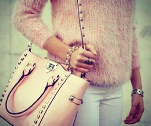 fashion, girl, and purse image