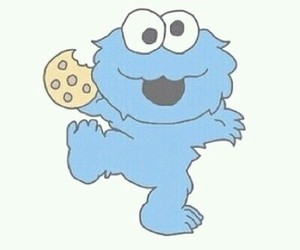 cookie, overlay, and blue image