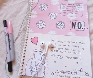 pink, notebook, and bambi image
