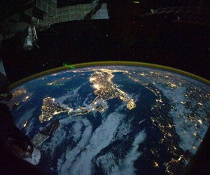 italy, lights, and satellite image