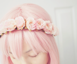 girl, pink, and cute image